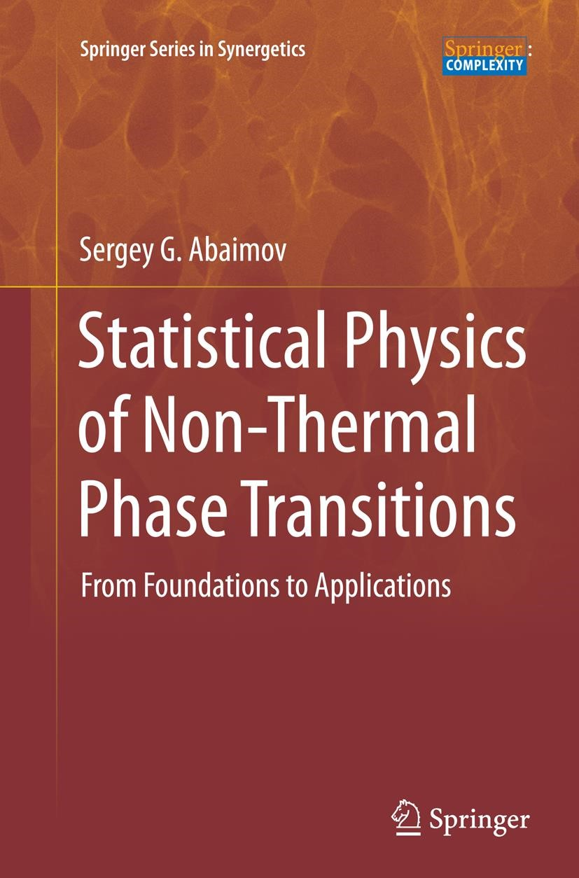 Abbildung von Abaimov | Statistical Physics of Non-Thermal Phase Transitions | Softcover reprint of the original 1st ed. 2015 | 2016