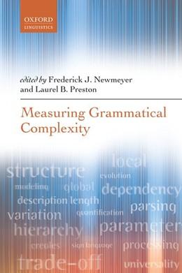 Abbildung von Newmeyer / Preston | Measuring Grammatical Complexity | 2017