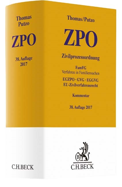 Zivilprozessordnung: ZPO | Thomas / Putzo | Buch (Cover)