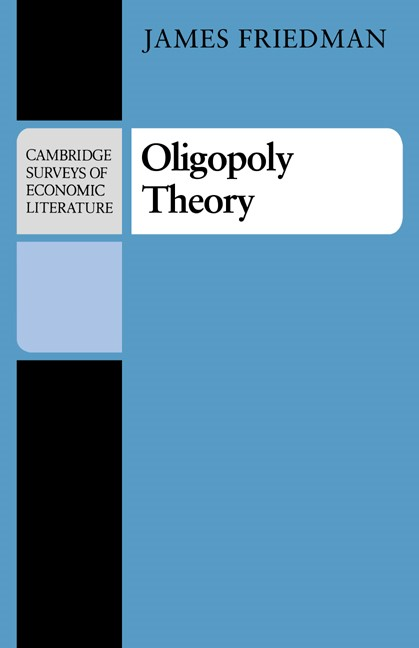 Abbildung von Friedman | Oligopoly Theory | 1983