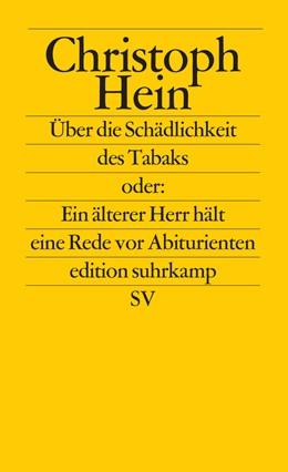 Abbildung von Hein   Über die Schädlichkeit des Tabaks   1. Auflage   2016   beck-shop.de