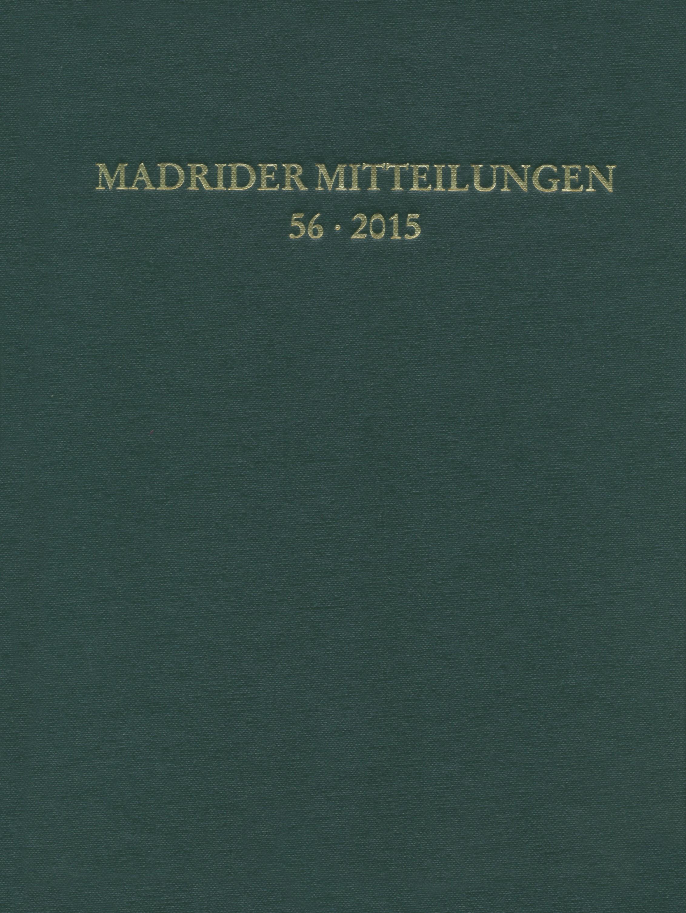 Madrider Mitteilungen, 2016 | Buch (Cover)