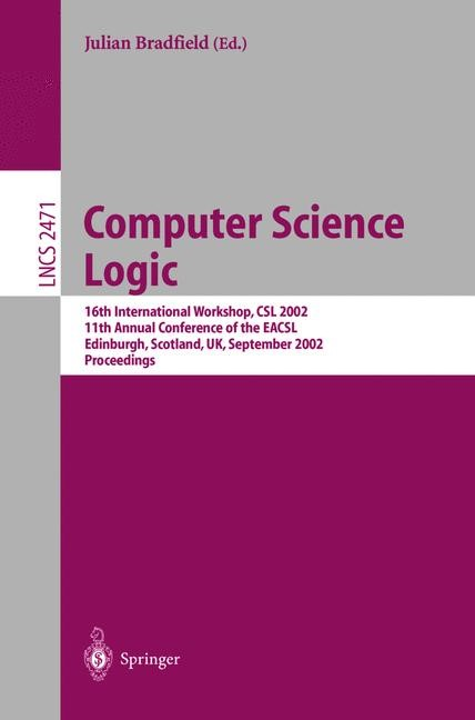 Computer Science Logic | Bradfield, 2002 | Buch (Cover)