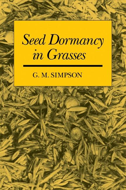 Abbildung von Simpson | Seed Dormancy in Grasses | 2007