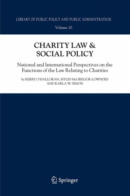 Charity Law & Social Policy | O'Halloran / McGregor-Lowndes / Simon, 2008 | Buch (Cover)