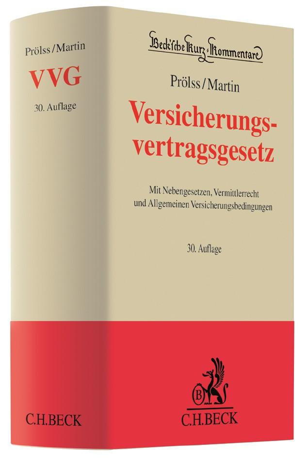 Versicherungsvertragsgesetz: VVG | Prölss / Martin | 30., überarbeitete Auflage, 2018 | Buch (Cover)
