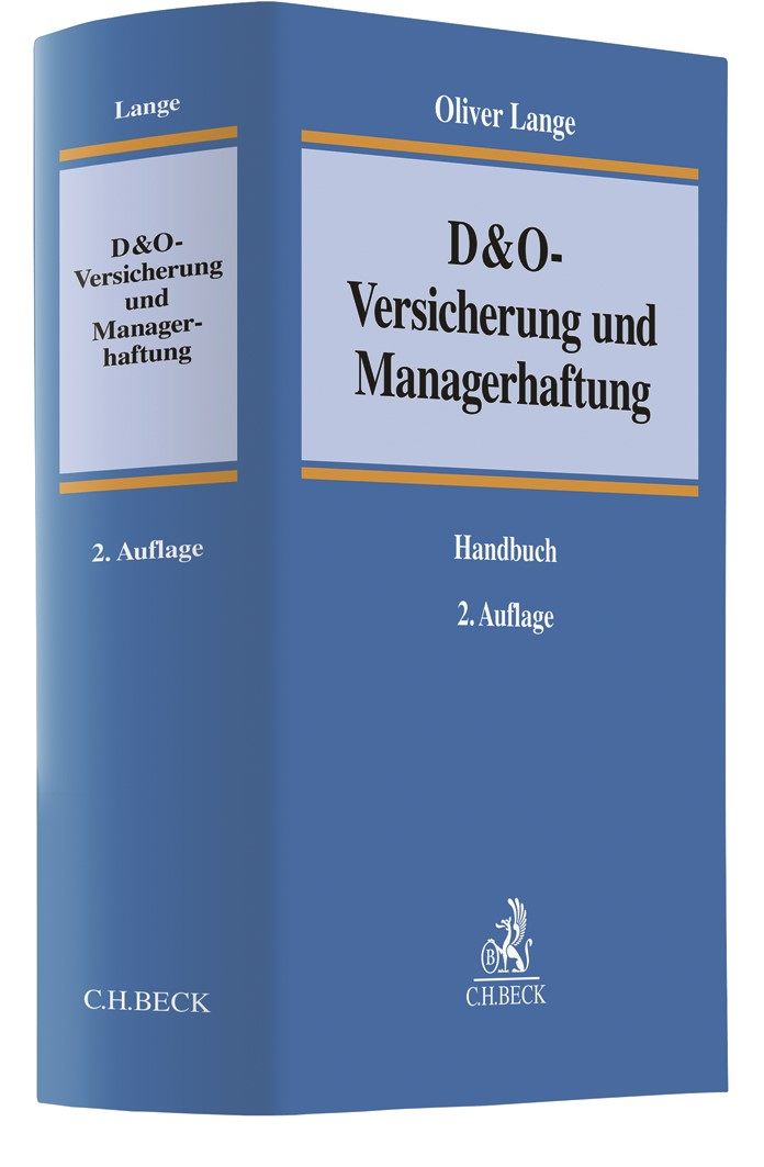 D&O-Versicherung und Managerhaftung   Lange   2. Auflage, 2019   Buch (Cover)