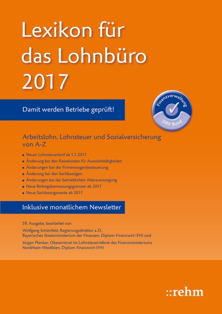 Lexikon für das Lohnbüro 2017 | Schönfeld / Plenker | 59. Auflage, 2017 | Buch (Cover)