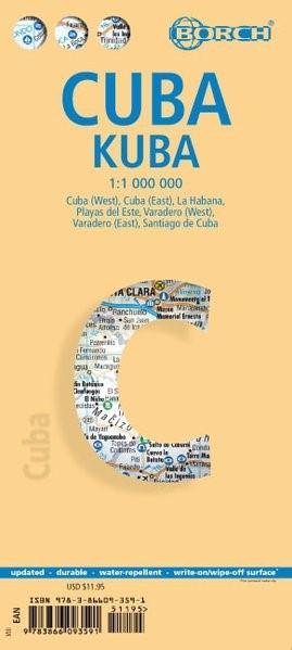 Abbildung von Kuba 1 : 1 000 000. Road Map   7. Auflage   2016