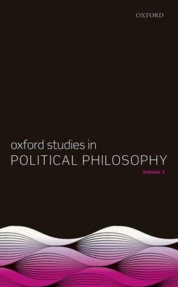 Abbildung von Sobel / Vallentyne / Wall | Oxford Studies in Political Philosophy, Volume 3 | 2017 | 3