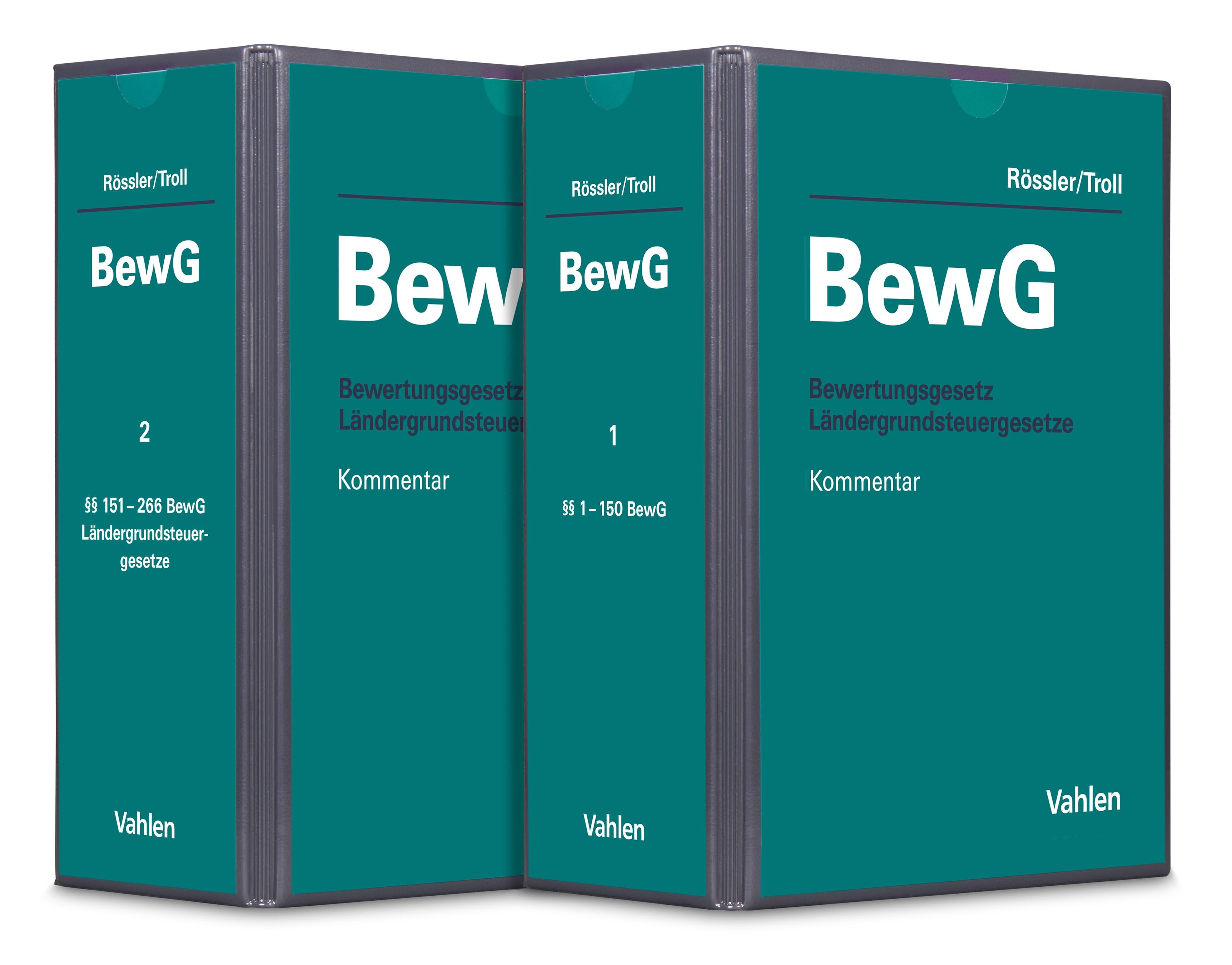 Bewertungsgesetz: BewG | Rössler / Troll | 27. Auflage (Cover)
