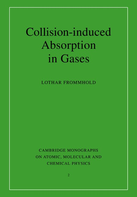 Abbildung von Frommhold | Collision-induced Absorption in Gases | 2006