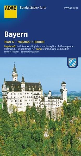 ADAC BundesländerKarte Deutschland 12. Bayern 1 : 300 000 | 6. Auflage, 2016 (Cover)