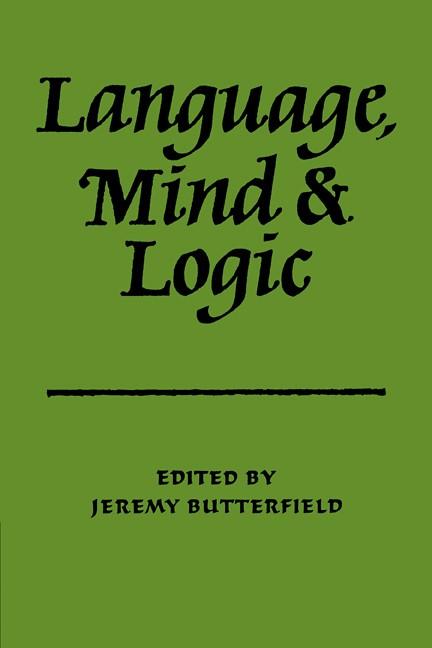Abbildung von Butterfield | Language Mind & Logic | 2009