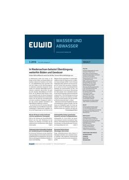 Abbildung von EUWID Wasser und Abwasser | 22. Jahrgang | 2019