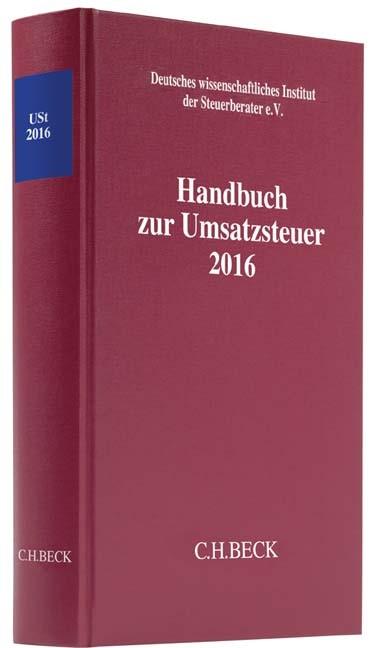 Abbildung von Handbuch zur Umsatzsteuer 2016: USt 2016   2017