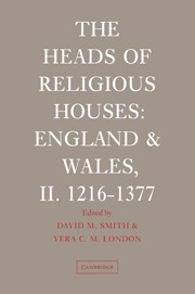 Abbildung von Smith / London | The Heads of Religious Houses | 2006
