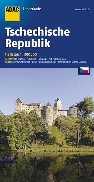 ADAC LänderKarte Tschechische Republik 1 : 300 000 | 5. Auflage, 2016 (Cover)