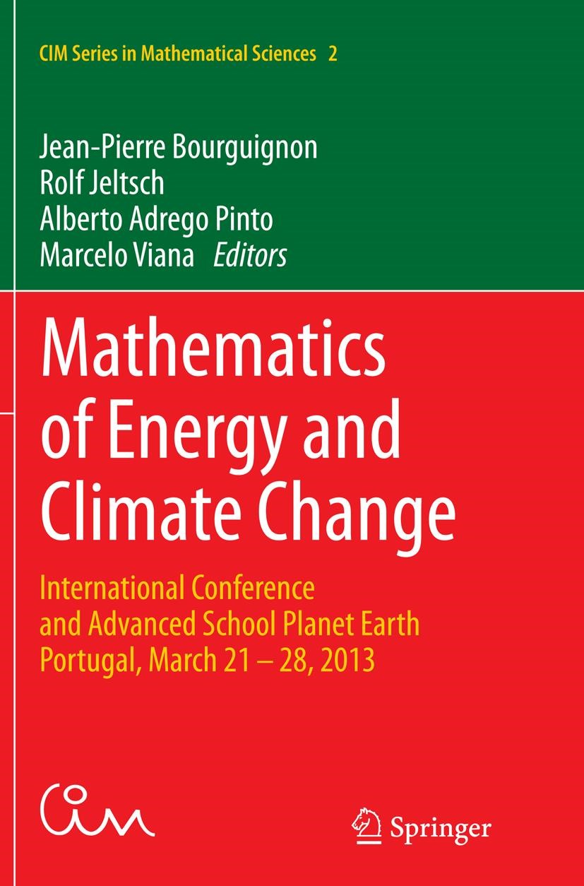 Mathematics of Energy and Climate Change | Bourguignon / Jeltsch / Pinto / Viana | Softcover reprint of the original 1st ed. 2015, 2016 | Buch (Cover)