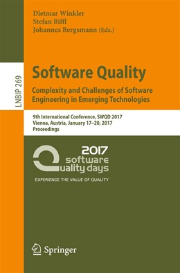 Abbildung von Winkler / Biffl / Bergsmann | Software Quality. Complexity and Challenges of Software Engineering in Emerging Technologies | 1st ed. 2017 | 2016 | 9th International Conference, ... | 269