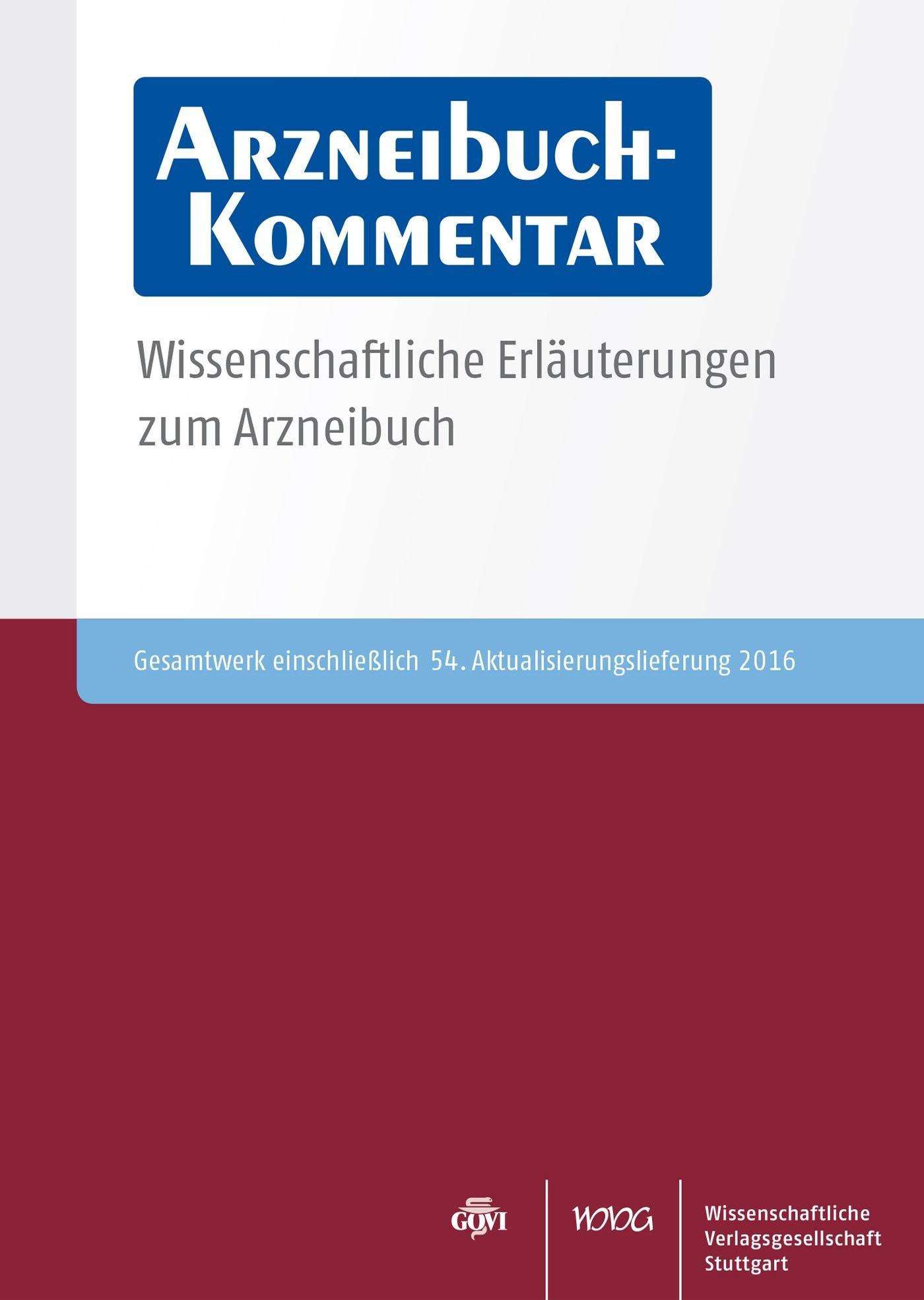 Arzneibuch-Kommentar CD-ROM VOL 54 | Bracher / Heisig / Langguth / Mutschler / Rücker / Schirmeister / Scriba / Stahl-Biskup / Troschütz, 2016 (Cover)