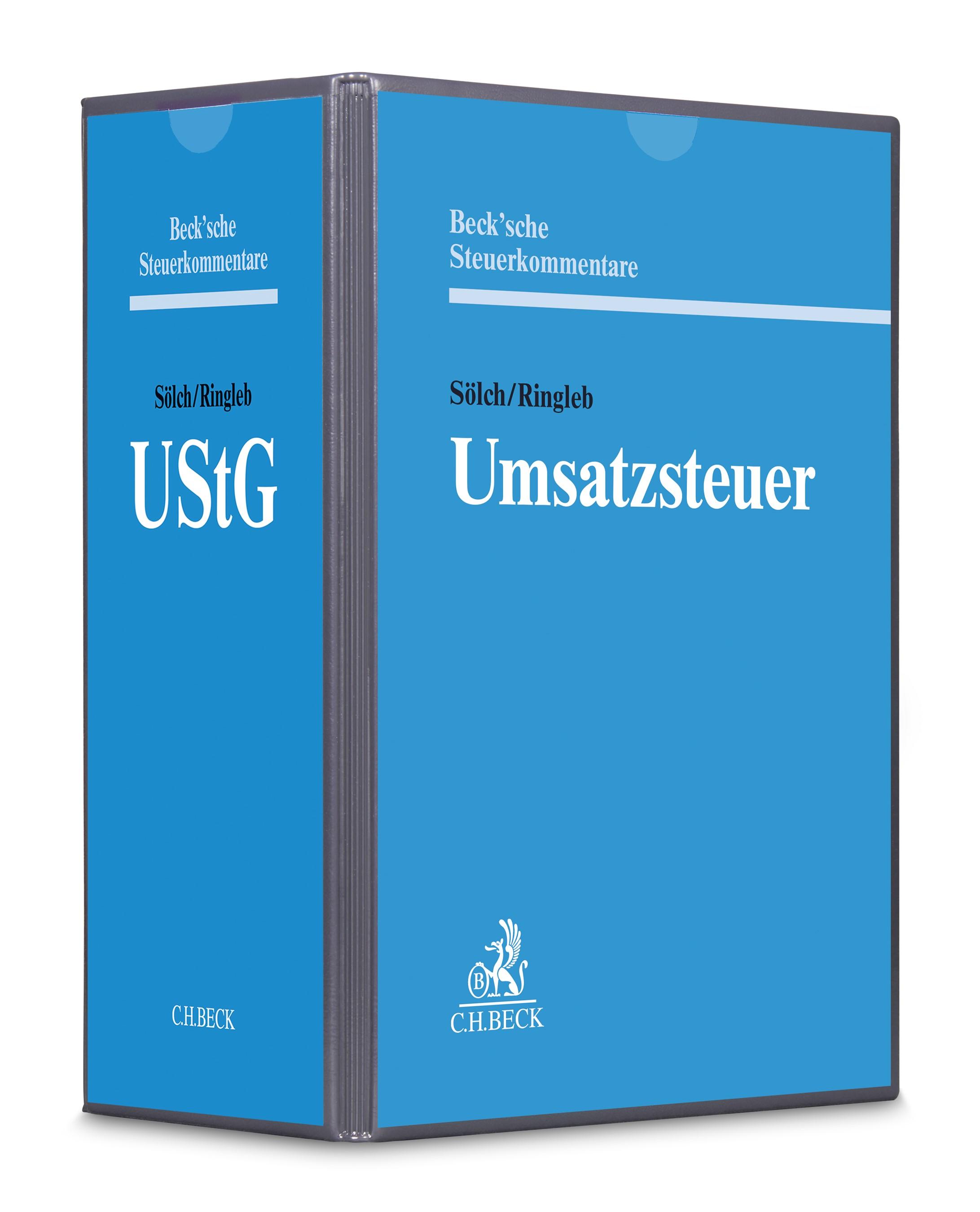 Umsatzsteuergesetz: UStG | Sölch / Ringleb | 82. Auflage (Cover)