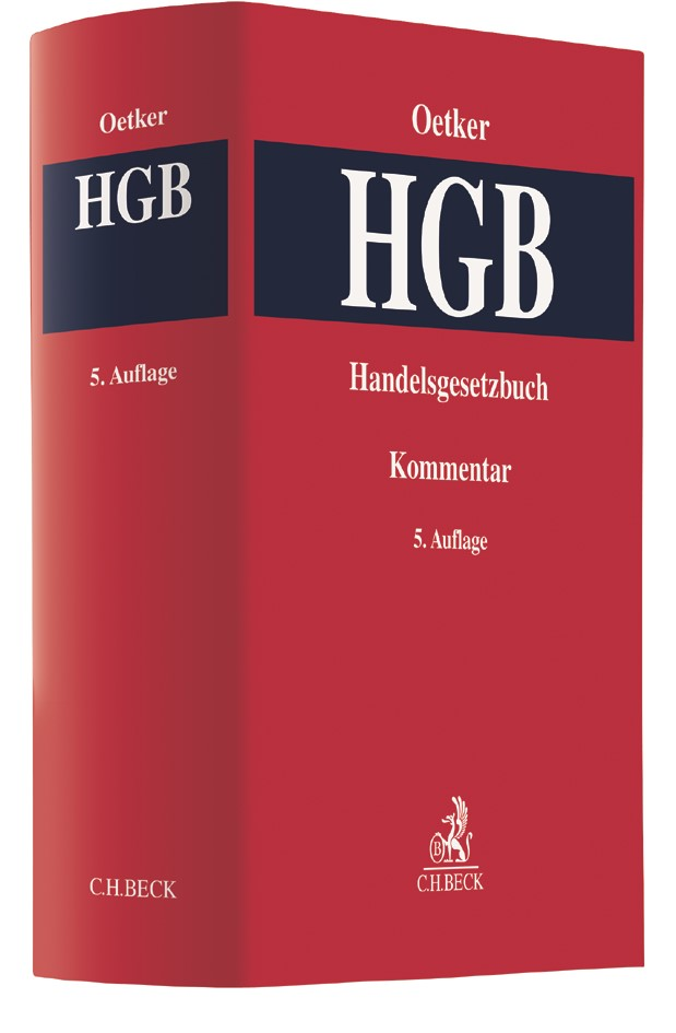 Handelsgesetzbuch: HGB   Oetker   5. Auflage, 2017   Buch (Cover)