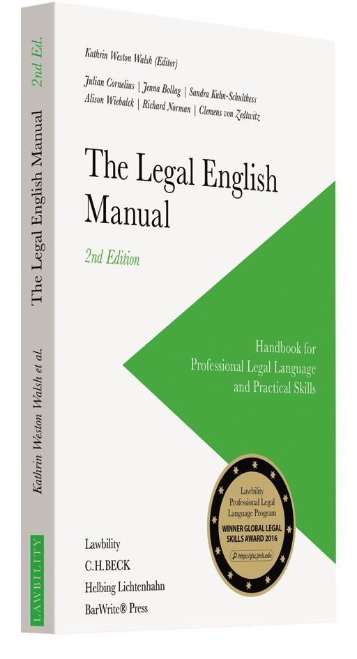 The Legal English Manual | Weston Walsh (Ed.) | Buch (Cover)