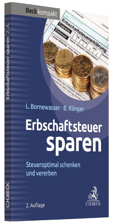 Erbschaftsteuer sparen | Bornewasser / Klinger | 2. Auflage, 2017 | Buch (Cover)