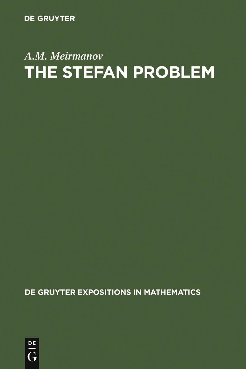 Abbildung von Meirmanov | The Stefan Problem | 1992 | 1992