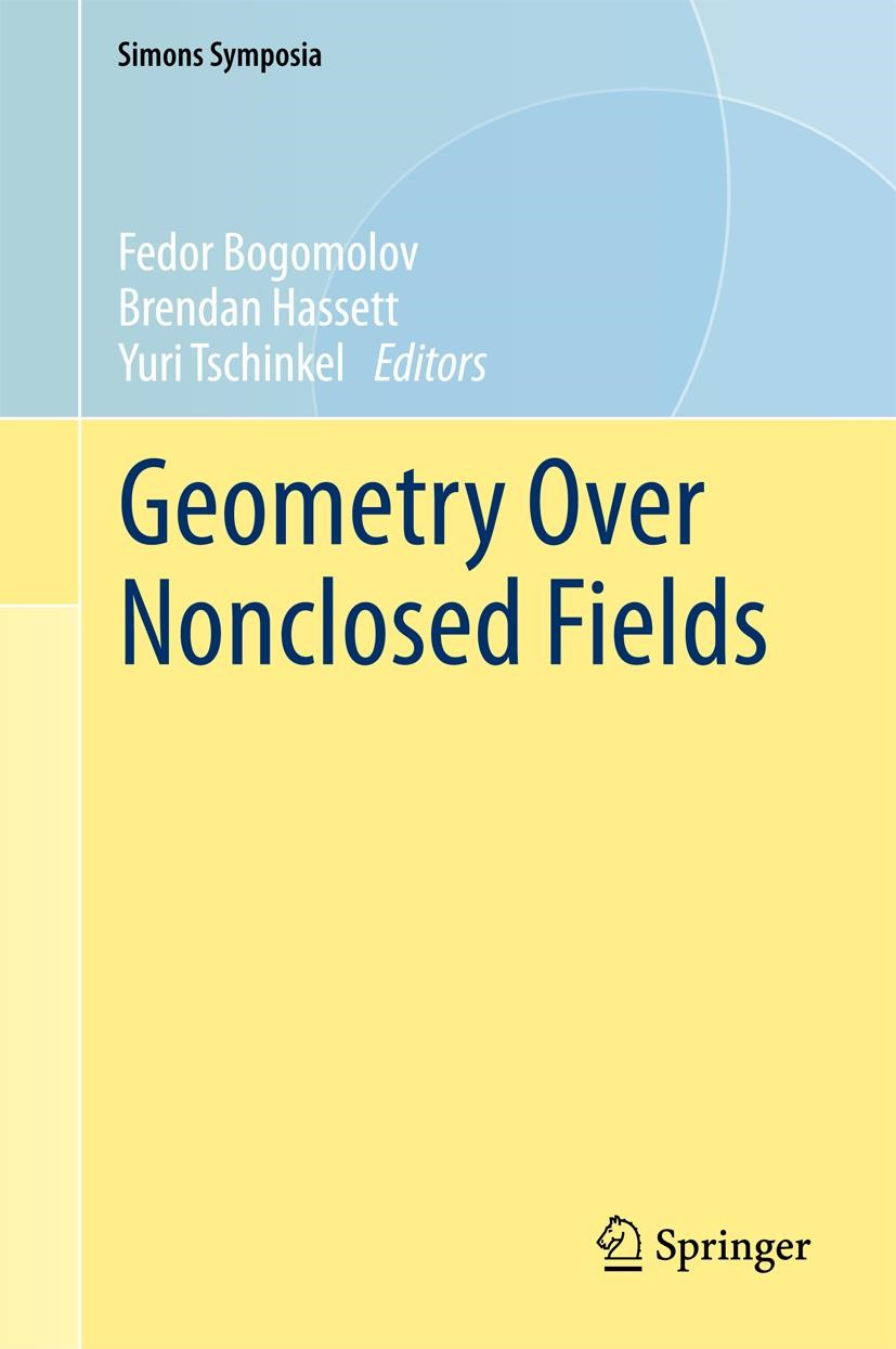 Abbildung von Bogomolov / Hassett / Tschinkel | Geometry Over Nonclosed Fields | 1st ed. 2017 | 2017