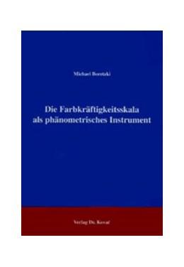Abbildung von Boretzki   Die Farbkräftigkeitsskala als phänometrisches Instrument   1996