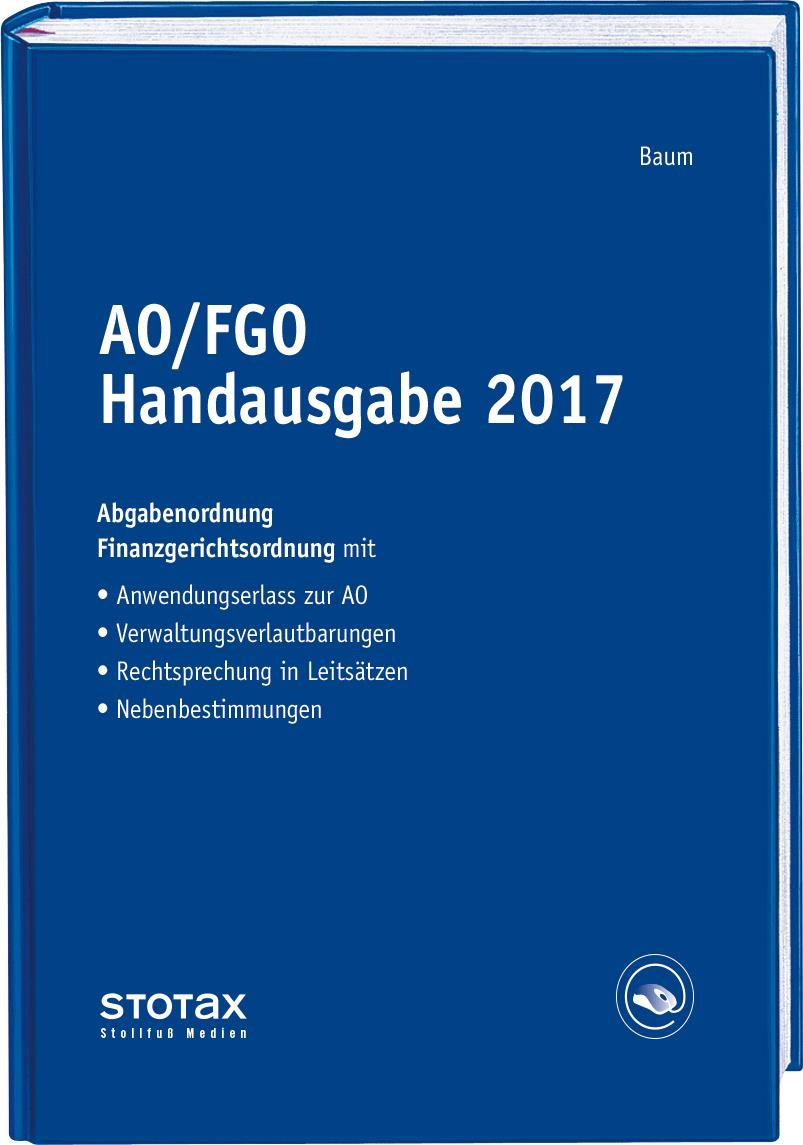 AO/FGO Handausgabe 2017 | Baum, 2017 | Buch (Cover)
