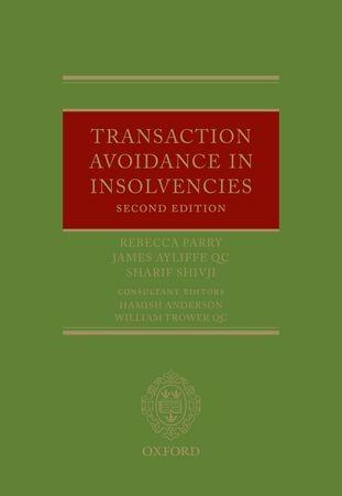 Abbildung von Parry / Ayliffe QC / Shivji   Transaction Avoidance in Insolvencies   2011