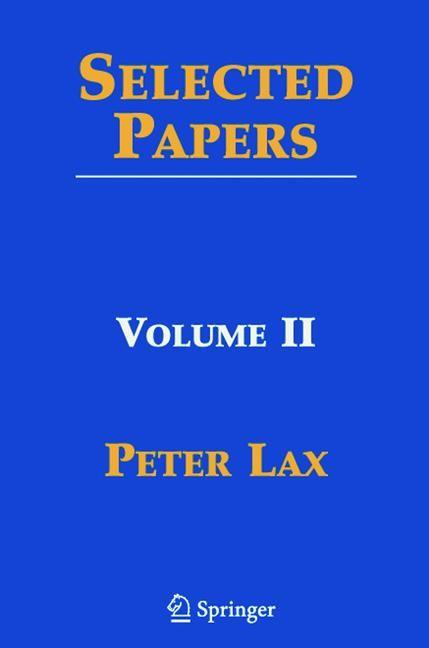 Abbildung von Lax / Sarnak / Majda | Selected Papers II | 2005