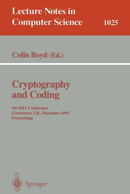 Cryptography and Coding | Boyd, 1995 | Buch (Cover)