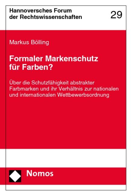 Abbildung von Bölling | Formaler Markenschutz für Farben? | 2007
