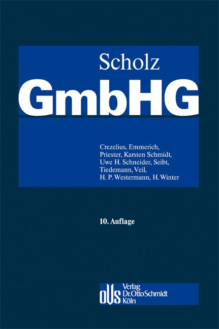 GmbHG | Scholz | Buch (Cover)