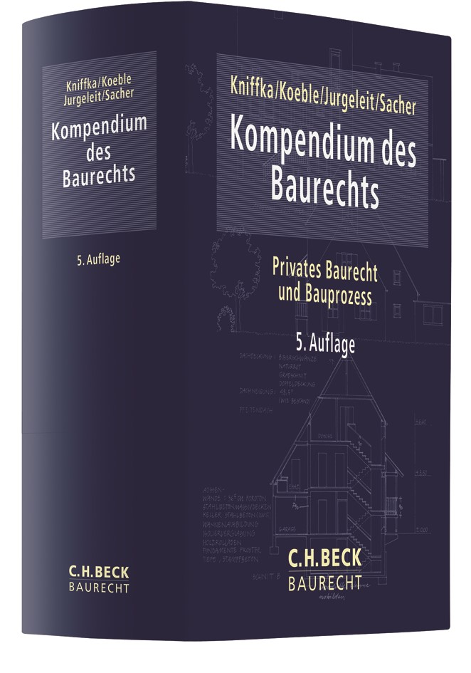 Kompendium des Baurechts | Kniffka / Koeble | 5. Auflage, 2018 | Buch (Cover)