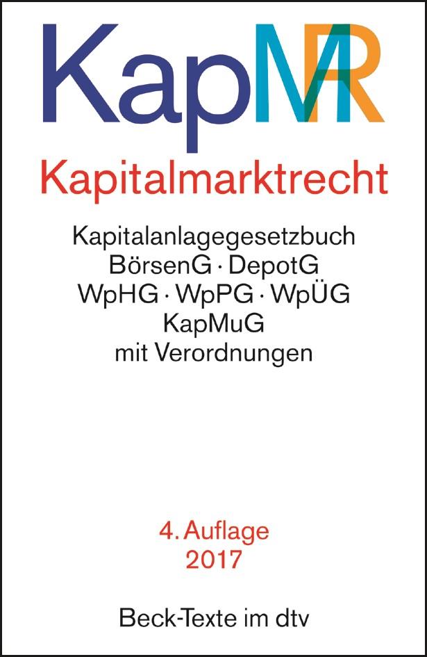 Kapitalmarktrecht: KapMR | 4. Auflage, 2017 | Buch (Cover)