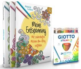 Abbildung von Mein Kreativset: 3 liebevoll gestaltete Malbücher mit 24 hochwertigen Farbstiften | 2016 | Mit zauberhaften Motiven entsp...