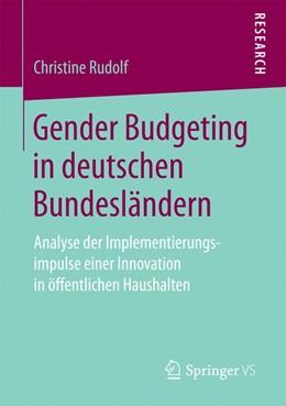 Abbildung von Rudolf | Gender Budgeting in deutschen Bundesländern | 1. Auflage | 2016 | beck-shop.de