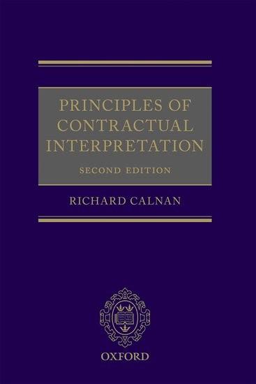 Abbildung von Calnan | Principles of Contractual Interpretation | 2017