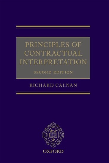 Abbildung von Calnan | Principles of Contractual Interpretation | 2017