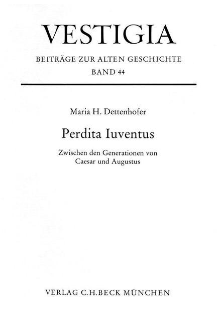 Cover: Maria Dettenhofer, Perdita Juventus