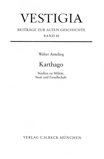 Cover: Walter Ameling, Karthago