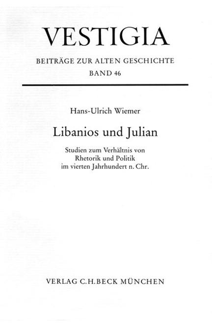 Cover: Hans-Ulrich Wiemer, Libanios und Julian