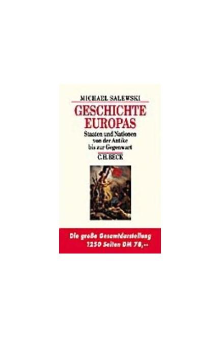 Cover: Michael Salewski, Geschichte Europas