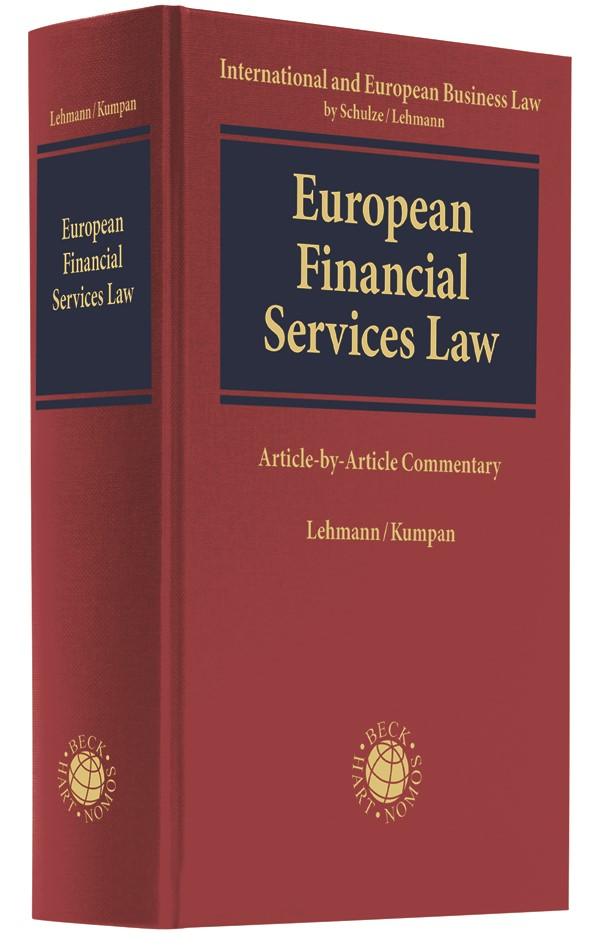 Financial Services Law | Lehmann / Kumpan, 2019 | Buch (Cover)