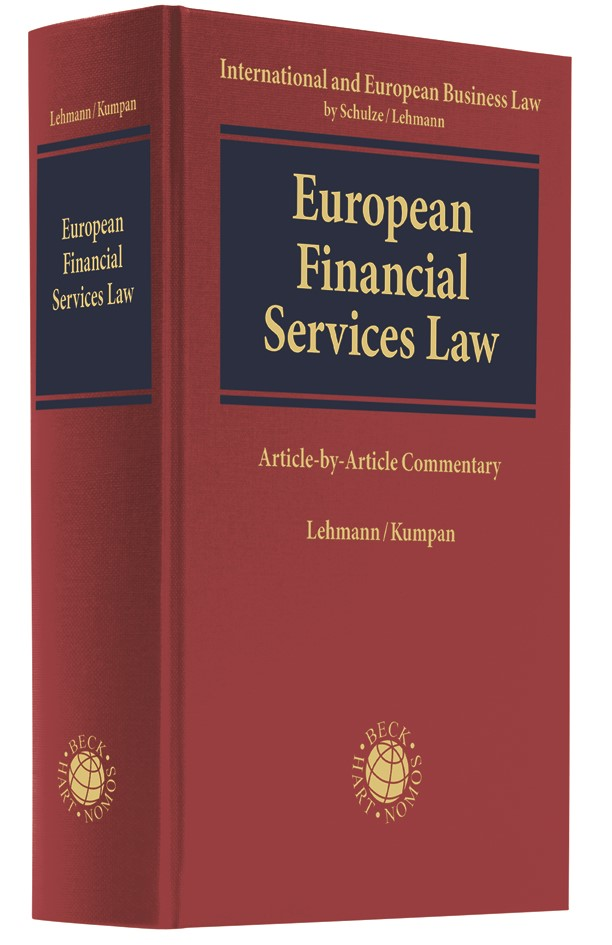 Abbildung von Lehmann / Kumpan   European Financial Services Law   2019